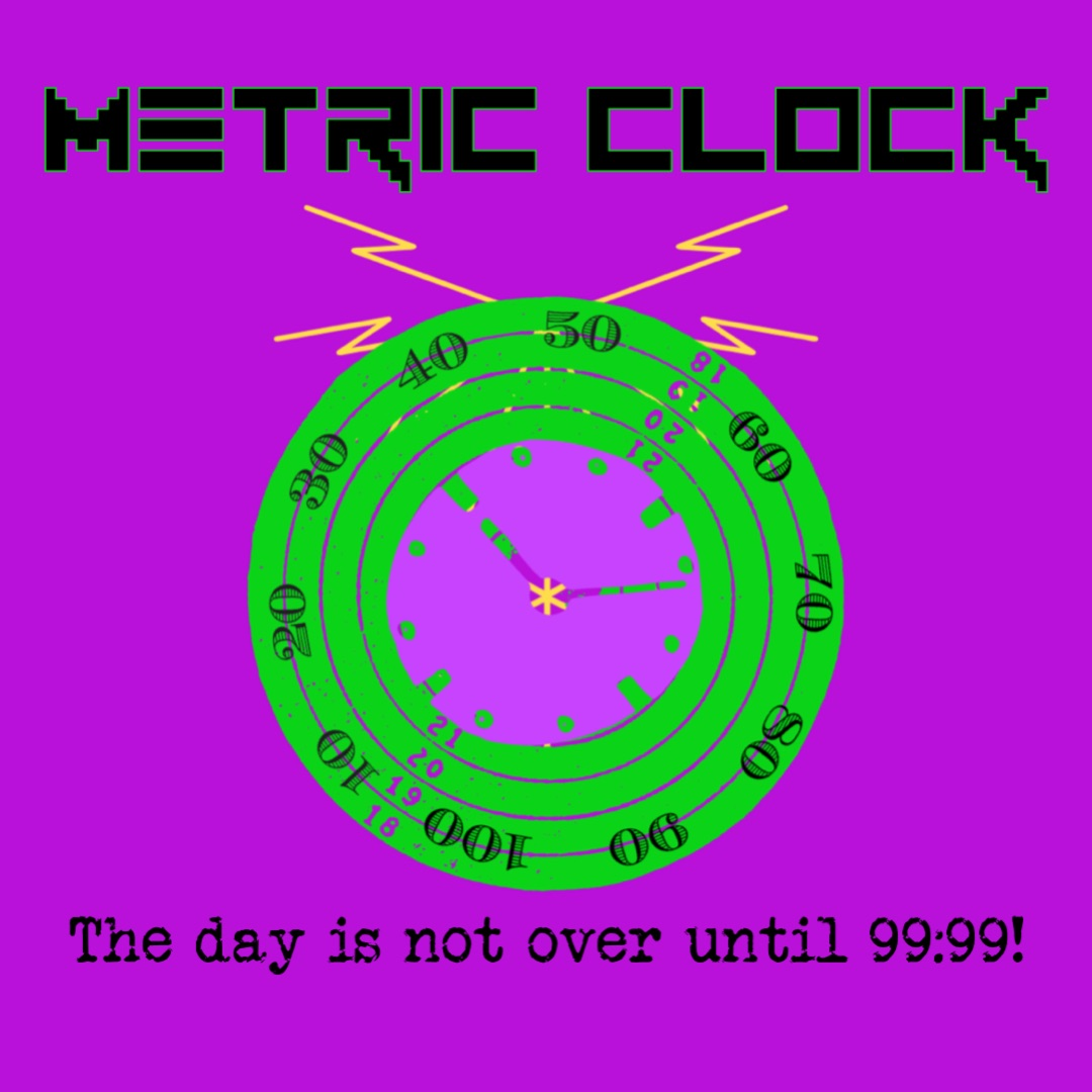 From the same Big Brother that brought you Daylight Savings Time, comes Metric Clock. All your time are belong to us!