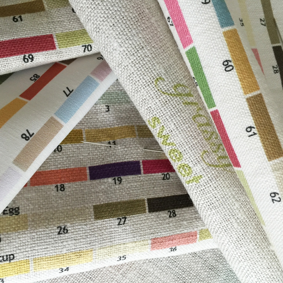 Custom to the trade linen swatches