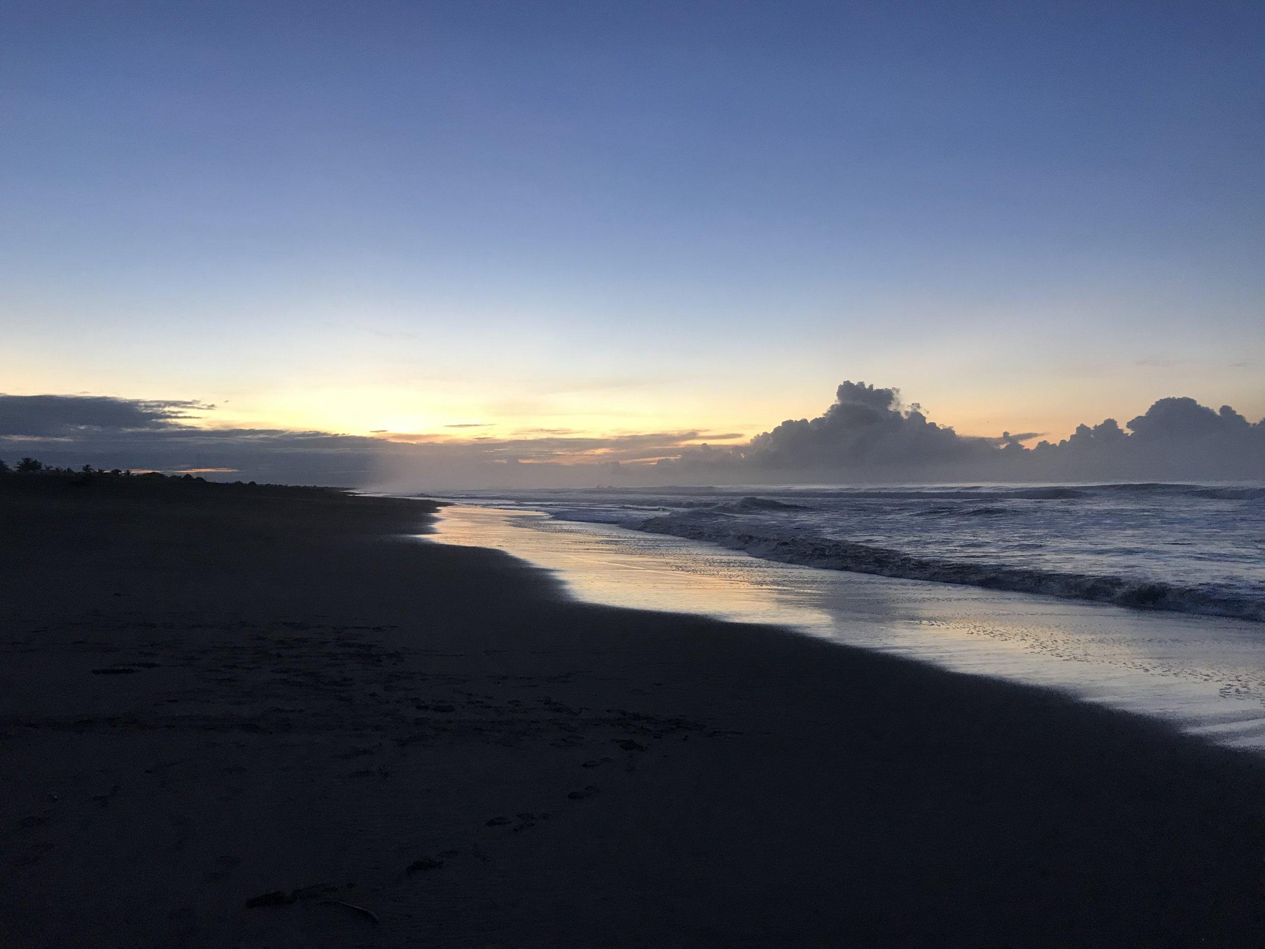 Sunrise of the first day of Panama Coast to Coast