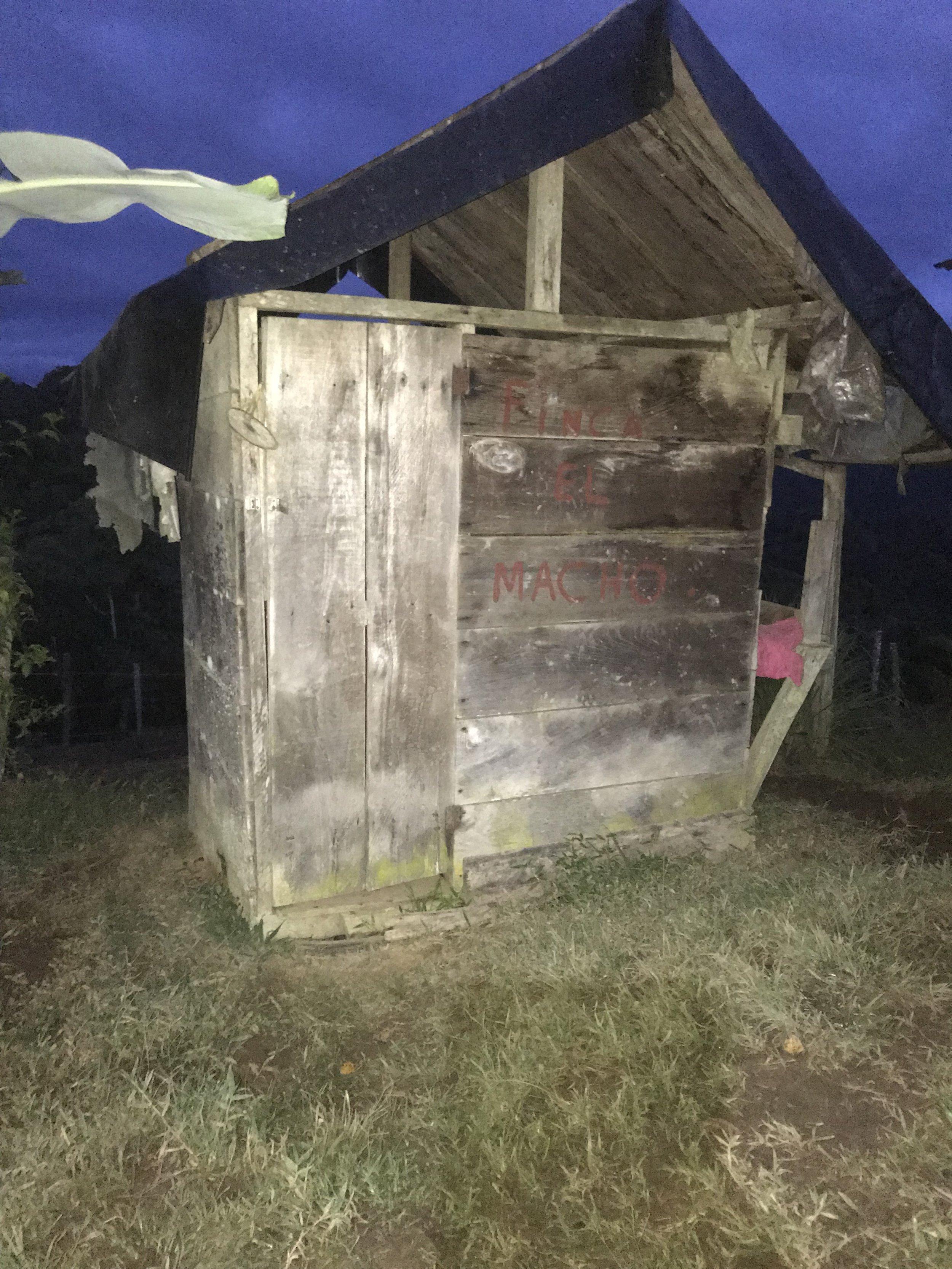 Murder shack/toilet.