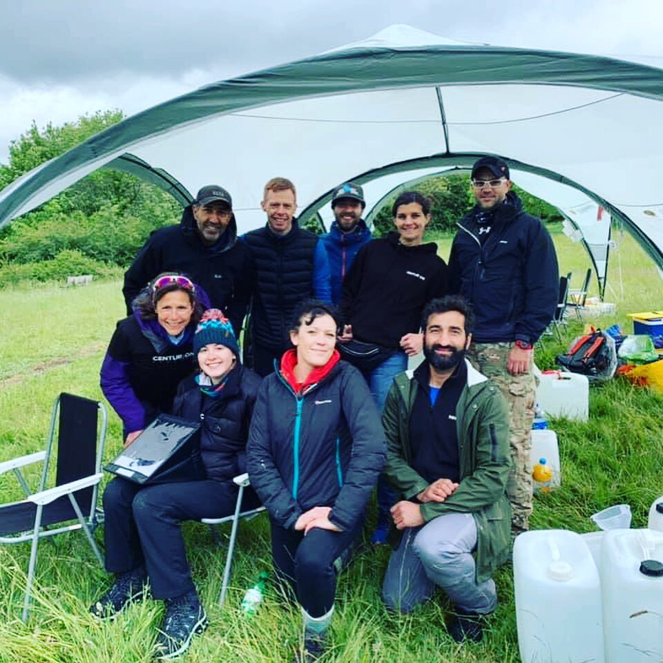 Squad goals - Harting Downs aid station 2019.