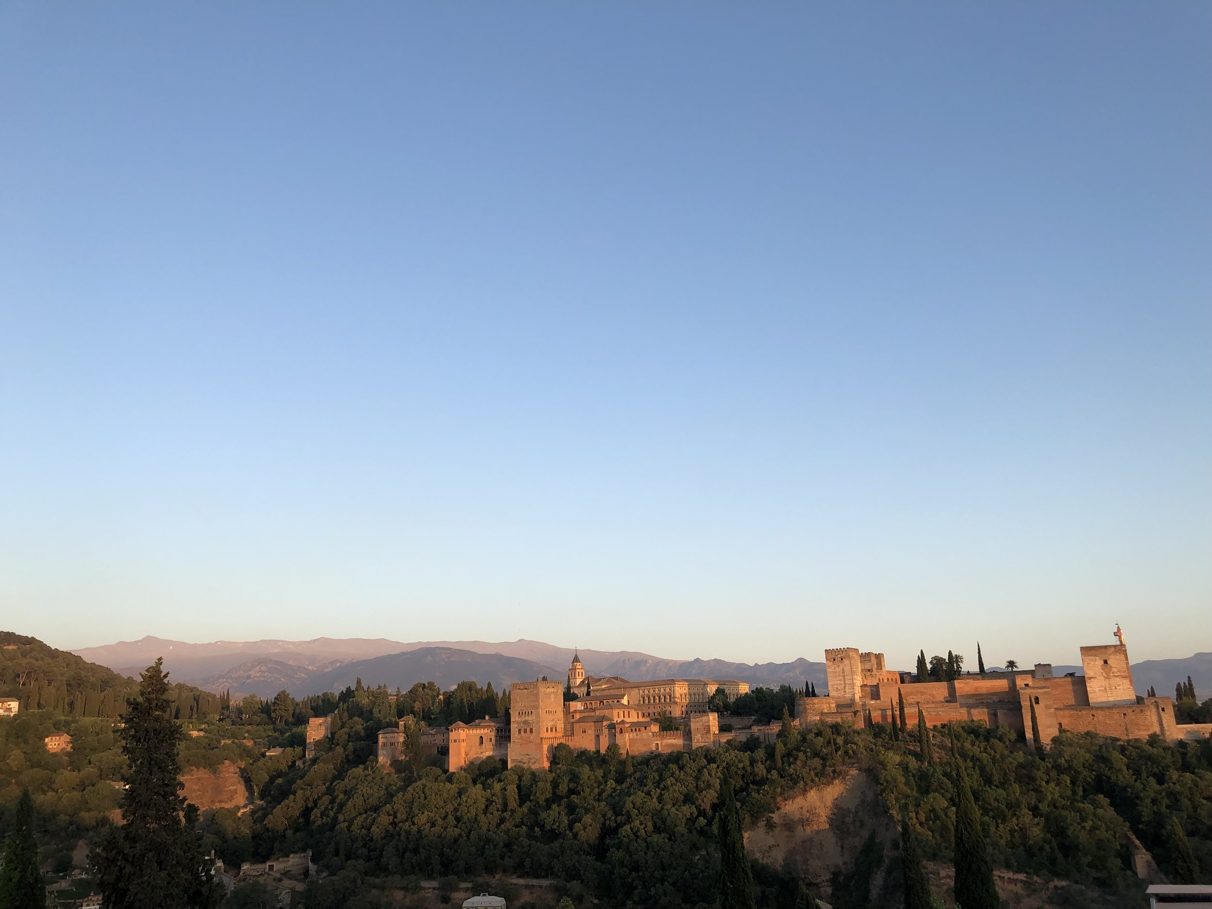 The Alhambra. Top points if you can spot the mountain we just came down…..