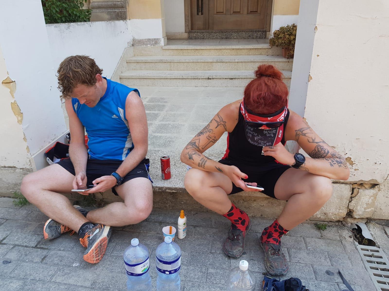 Ratty Runners take a break.  Photo: Lisa Osbourne