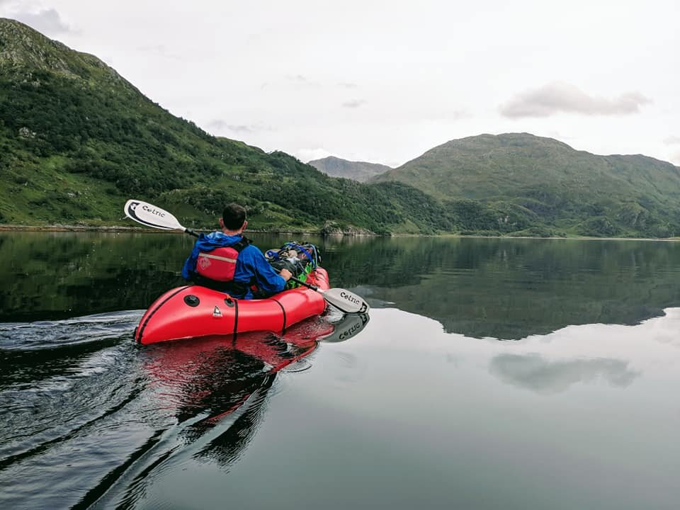 That glassy Loch.  Photo Andy Toop.