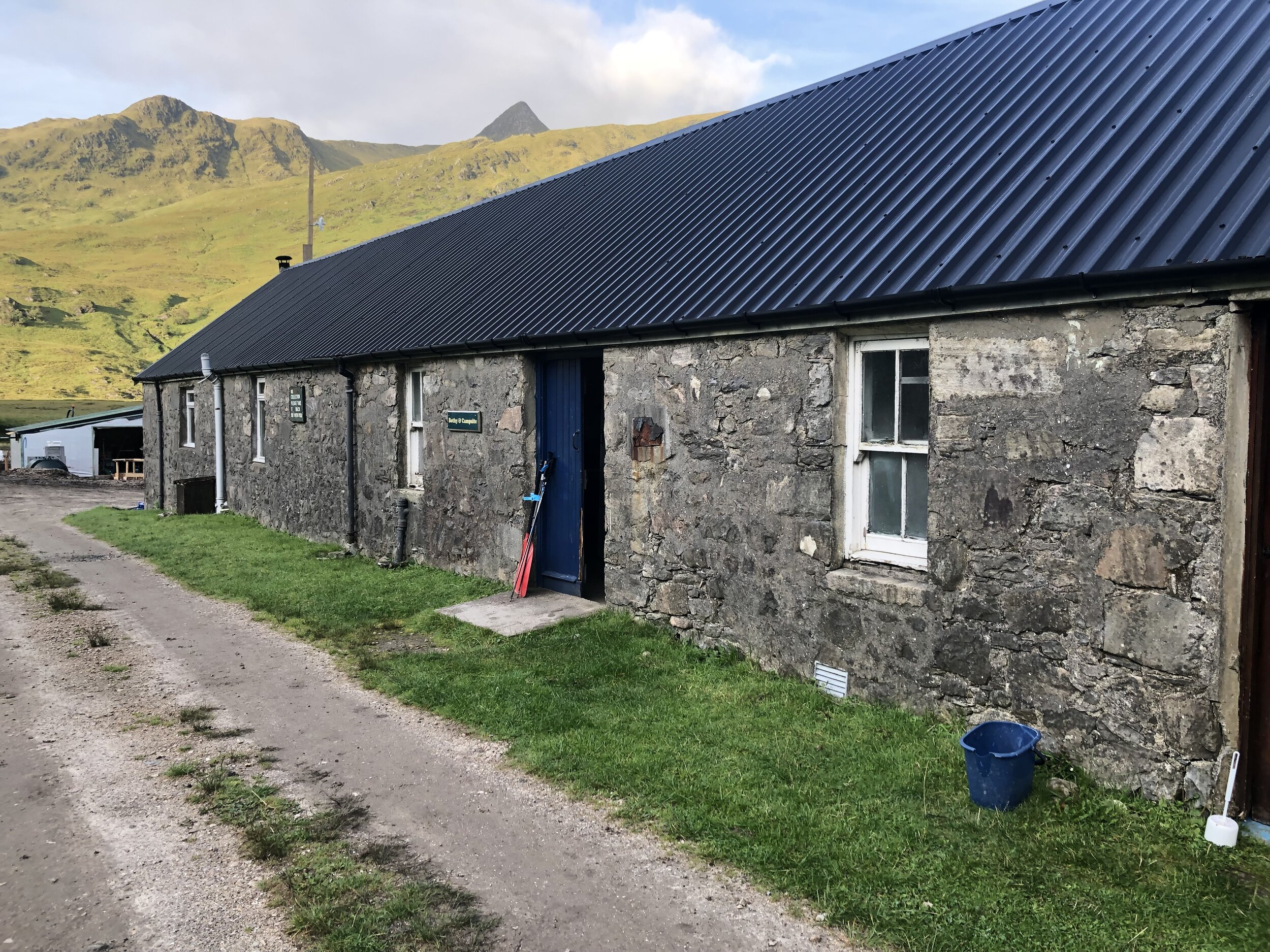 Our bothy for the night. It had a toilet which is very fancy. Photo taken the next morning obviously…..