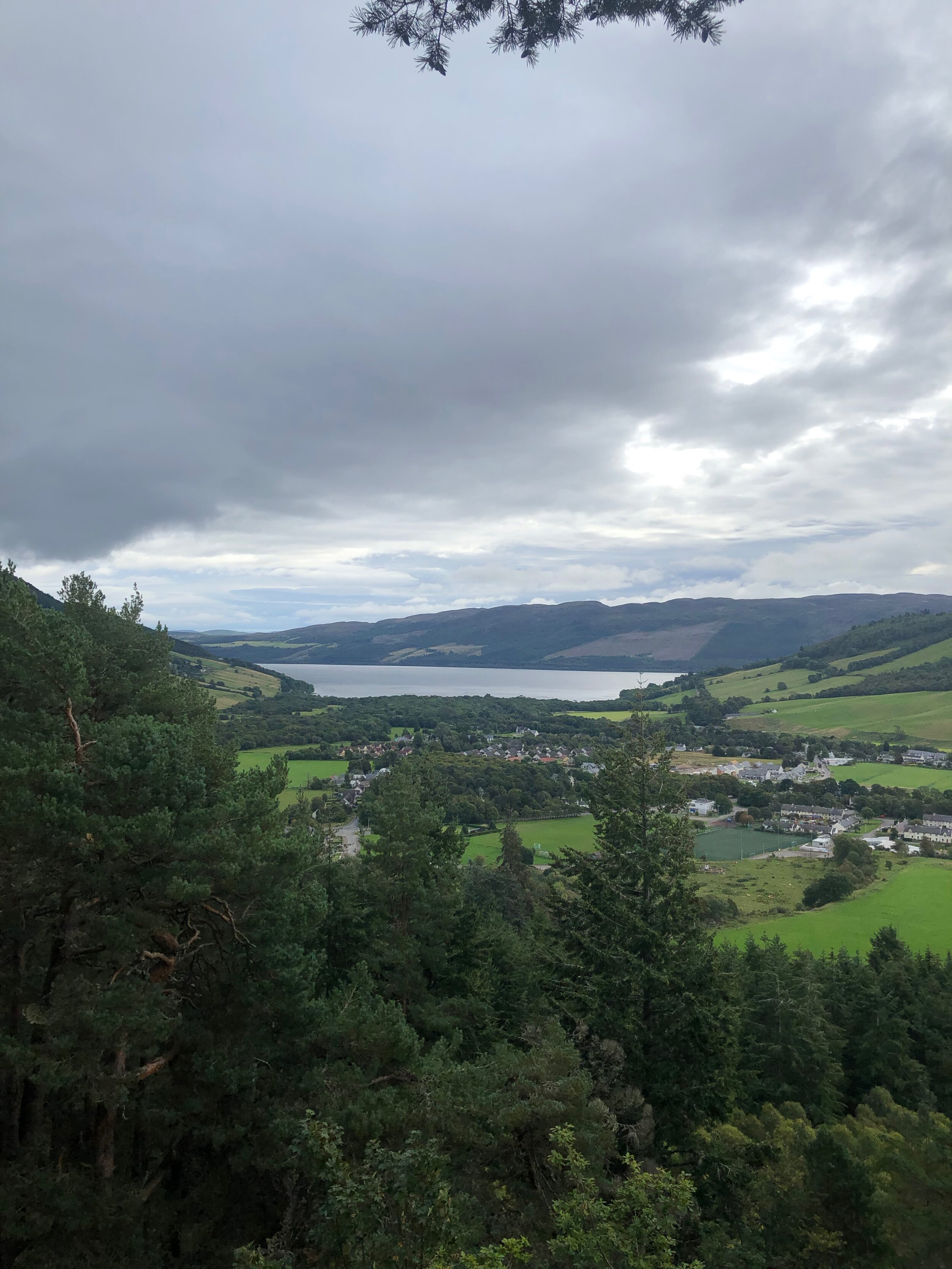 There she is - Loch Ness looms.