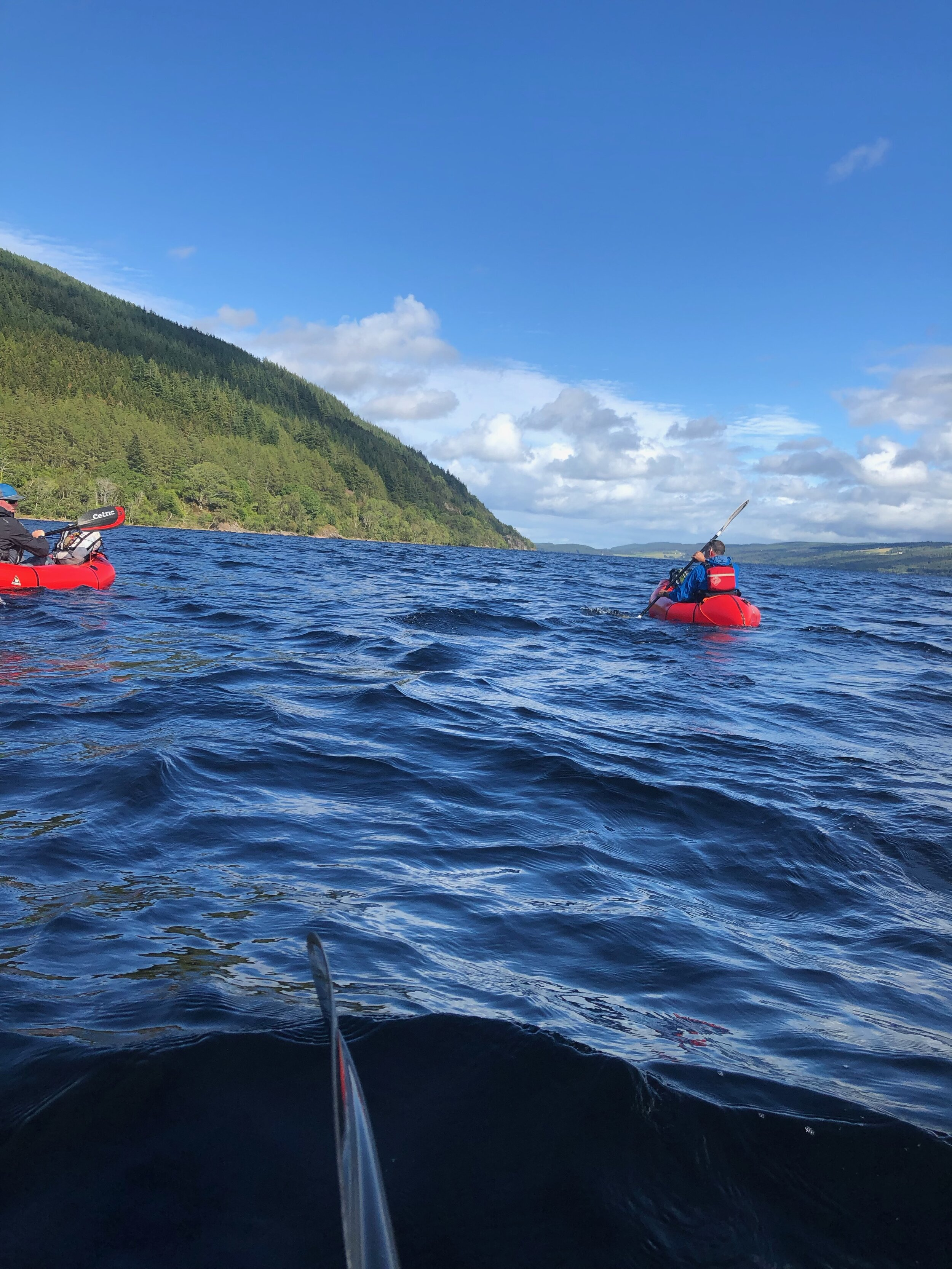 Choppy Loch Ness.