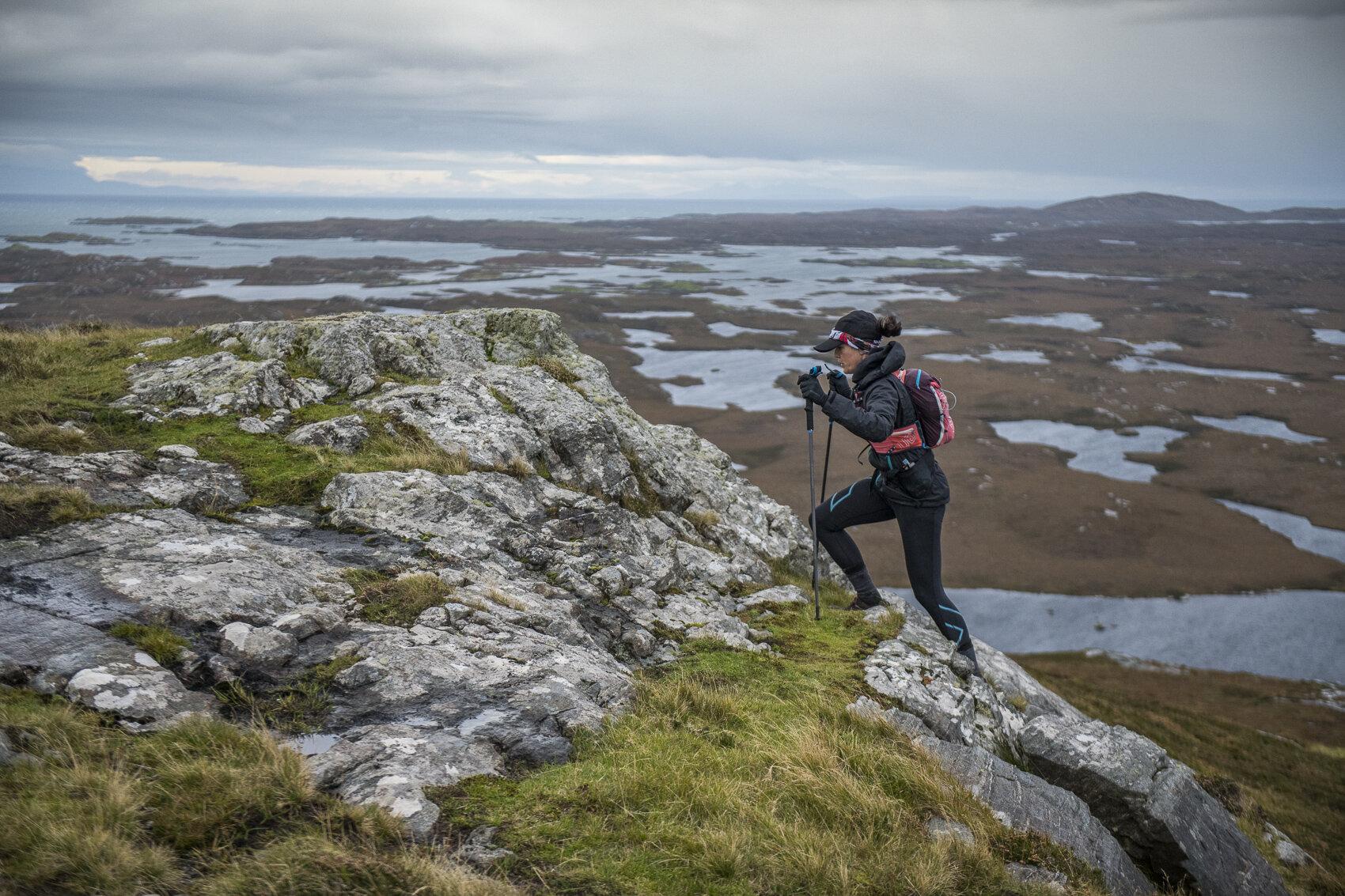 Climbing to the summit of Ruabhal  Photo: Leo Francis/Rat Race Adventure Sports