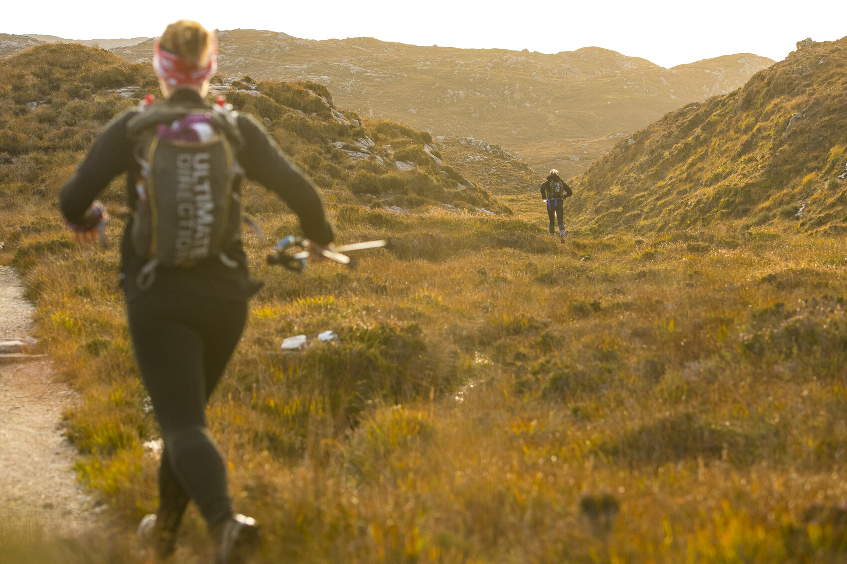 Lorna making the most of that runable trail  Photo: Leo Francis/Rat Race Adventure Sports
