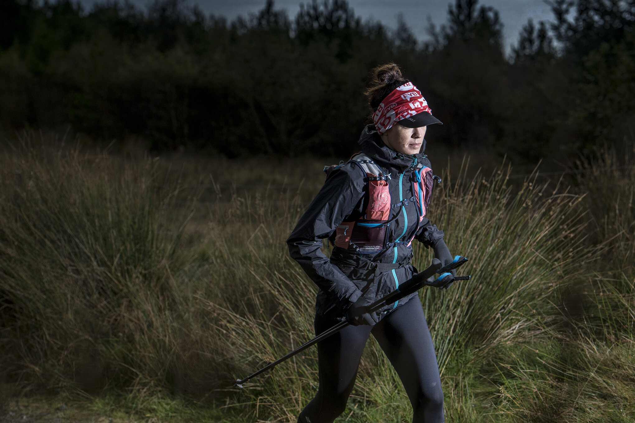 Running into darkness for the last time  Photo: Leo Francis/Rat Race Adventure Sports