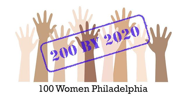 Make connections, make new friends, and make a difference.  Join 100 Women Philadelphia and help make positive change.  Each member donates $100 per quarter, which can become $20,000 for a worthy cause.  Together we support local nonprofits who make Philly even better.  For more information, visit 100womenphiladelphia.com. #200by2020