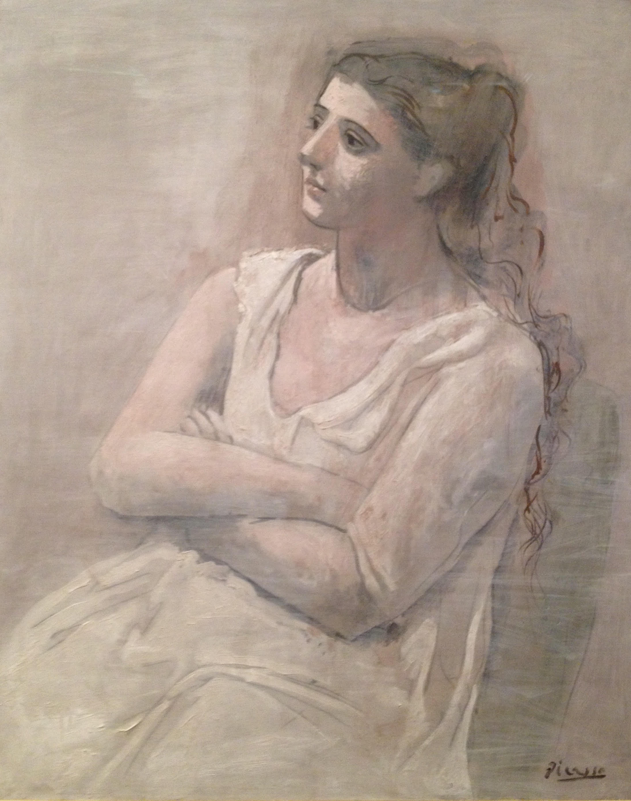 Pablo Picasso,  Woman in White , 1923