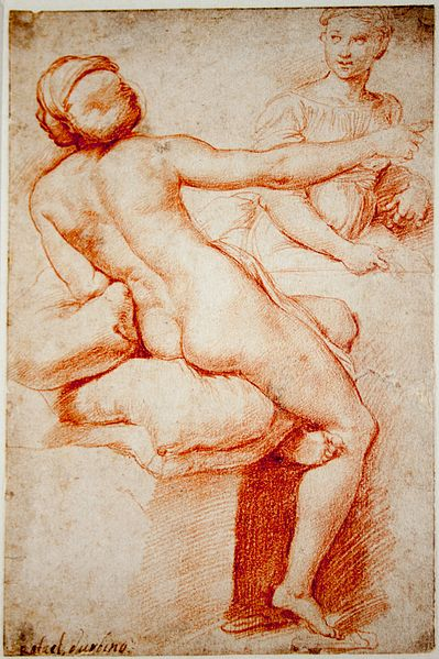 Raphael, Study for Two Female Figures, 1517.jpg