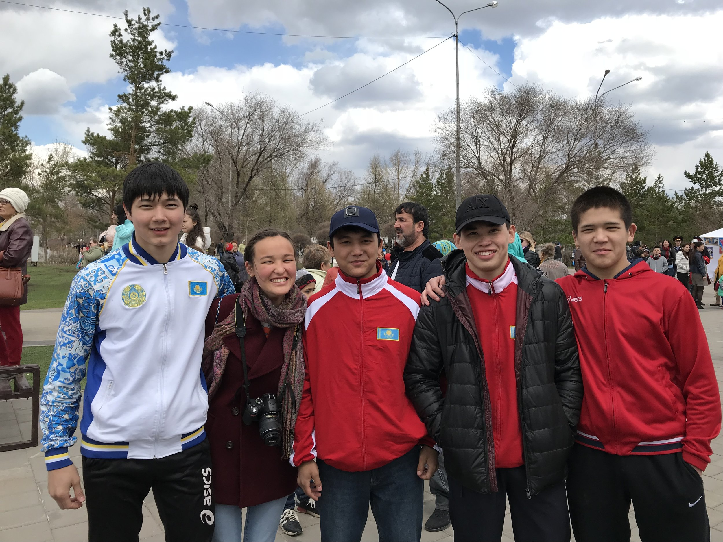 Picture with Kazakh people, they are so nice!