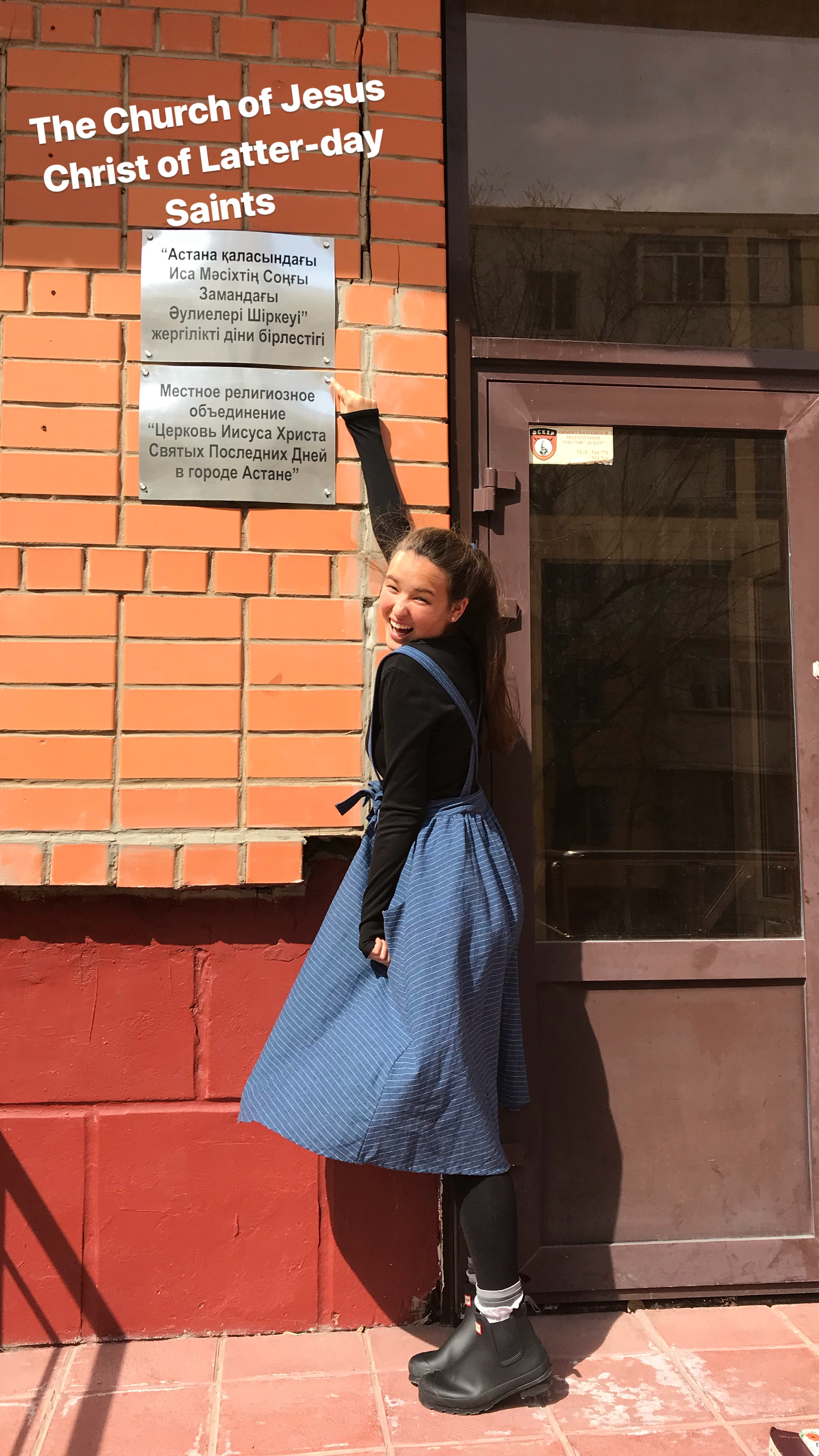 Church in Kazakhstan! The top sign is in Kazakh & bottom is in Russian