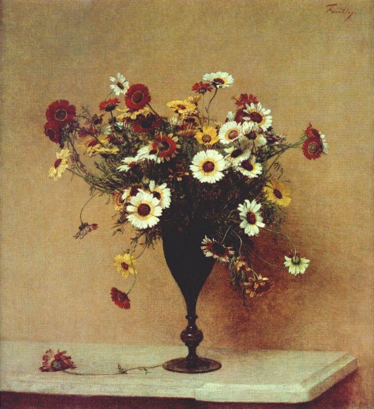 Chrysanthemums    Henri Fantin-Latour, c. 1889, oil on canvas