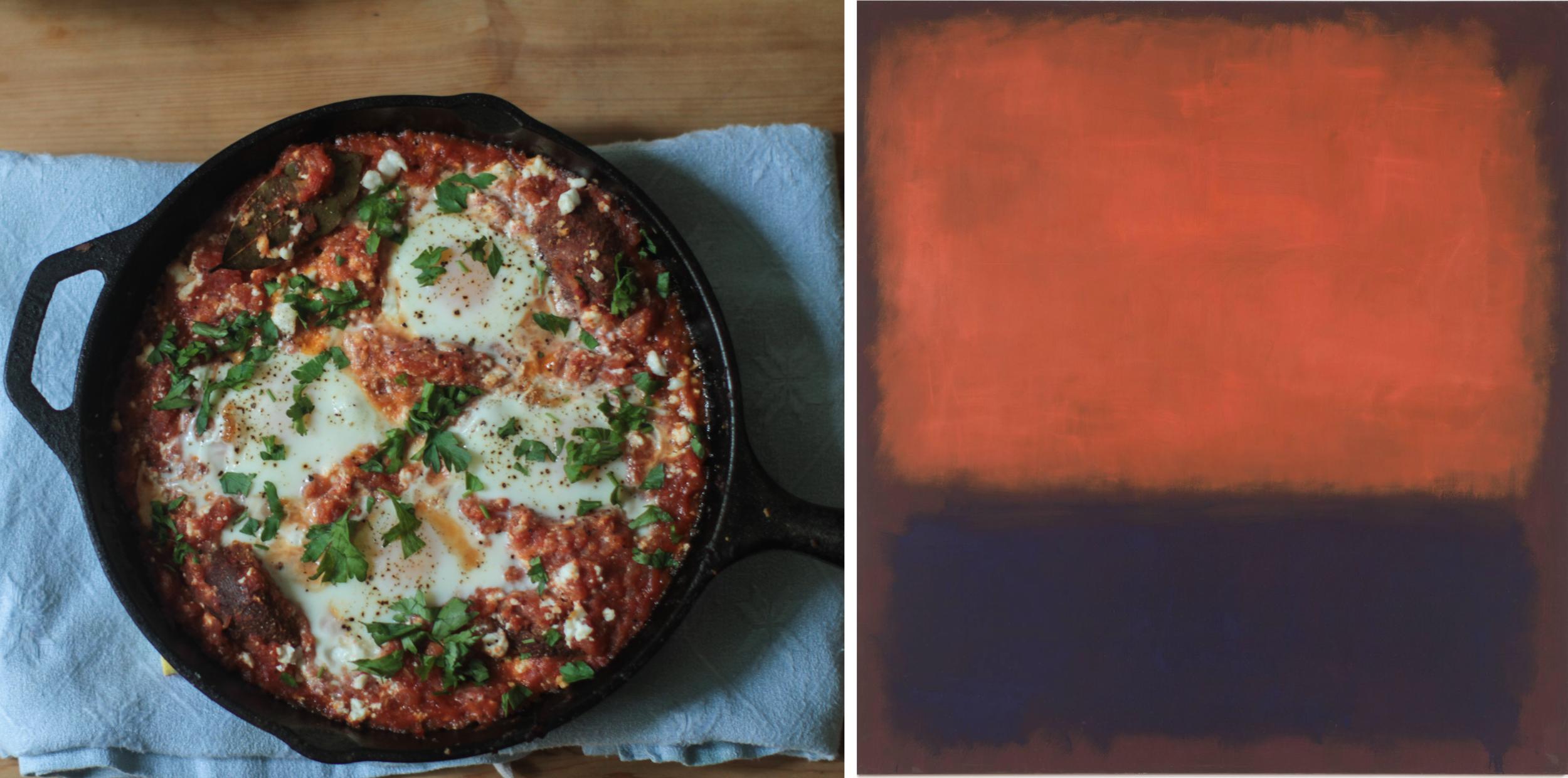 Right:  No. 14, (1960)Mark Rothko