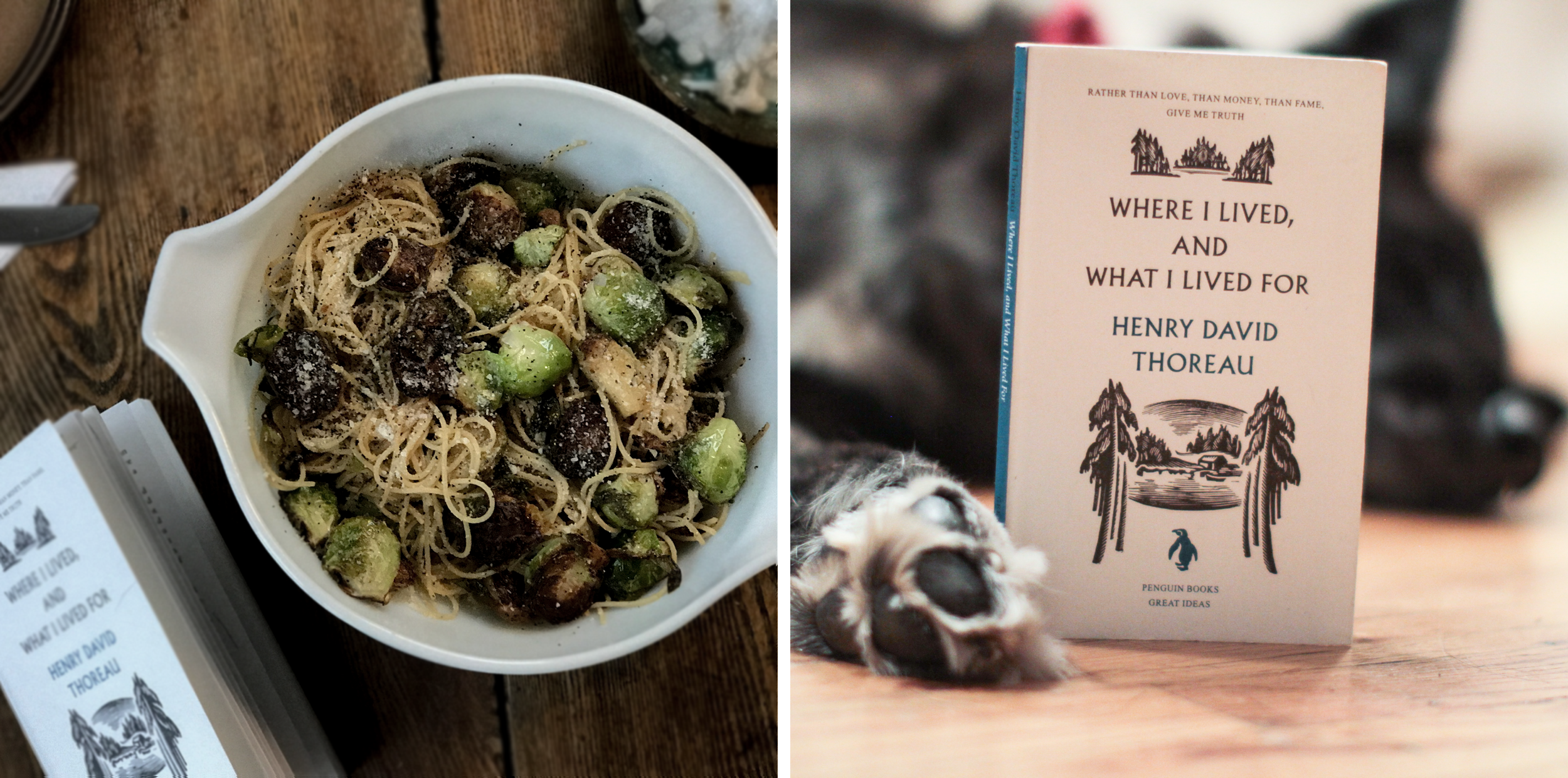 Spaghetti with Roasted Brussels Sprouts