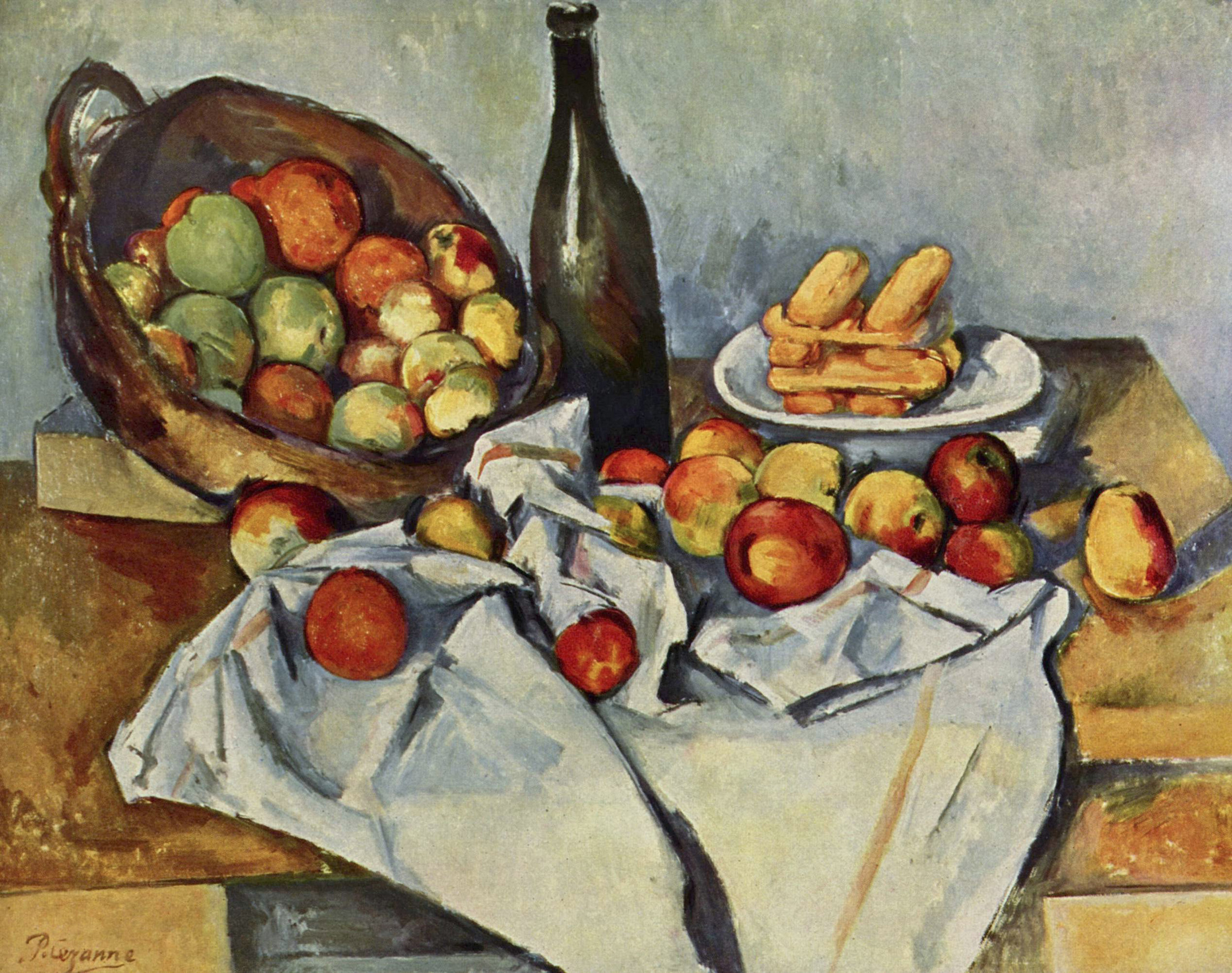 Basket of Apples , Paul Cézanne, oil on canvas, 1895