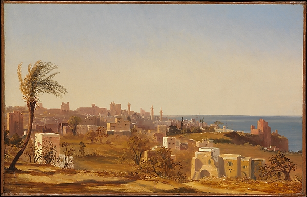 View of Beirut , Jules Coignet, 1844, oil on paper, at The Metropolitan Museum of Art