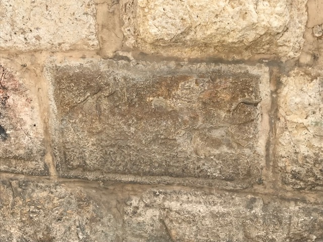 Stones from the Temple built by Herod the Great are often found embedded in walls and the exterior of buildings in the old city of Jerusalem — a quintessential piece of recycling!