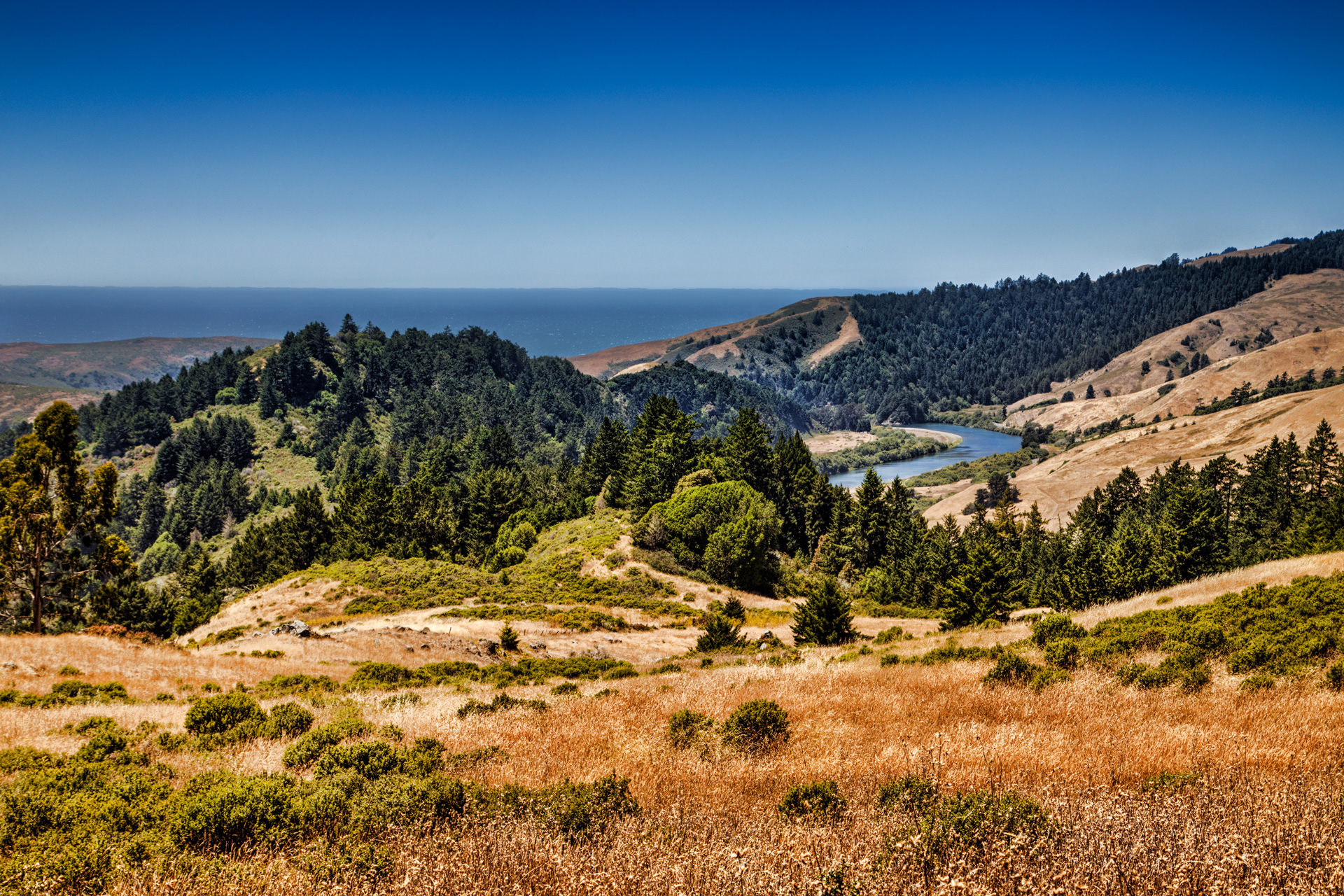 The Russian River Valley leads to the Pacific Coast. A true vacation wonderland.