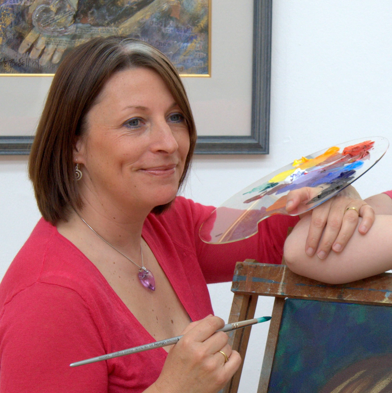 Kate Bedell - Informal photo shoot at the Dublin Painting and Sketching Club Annual Show