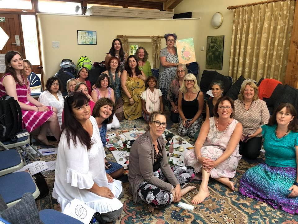 Our group at the Mary Magdalene Workshop with Amanda Ellis.