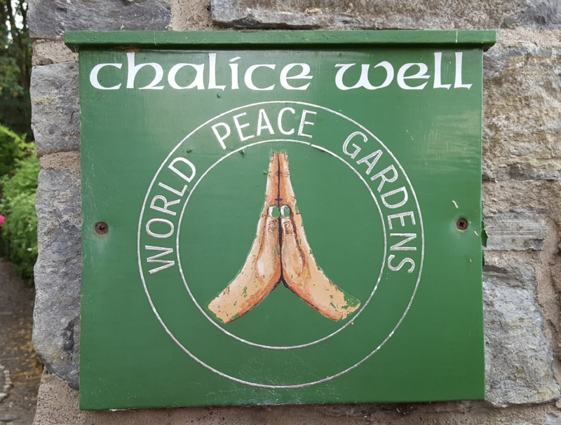 At the Chalice Well Gardens, Glastonbury, a bell sounds twice a day for a minute silence. This practice started during the Second World War when it was introduced by the Government and broadcast at 9pm each evening. The Gardens carry on this tradition today by the ringing of the old school bell at 12 pm and 3 pm.