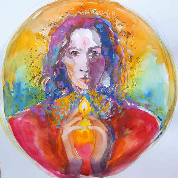 Colour sketch for work in progress, Mary Magdalene Mandala.