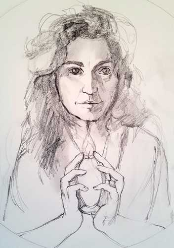 Pencil Sketch of Mary Magdalene