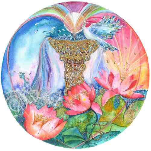 The Fountain of Love - Ace of Cups Mandala