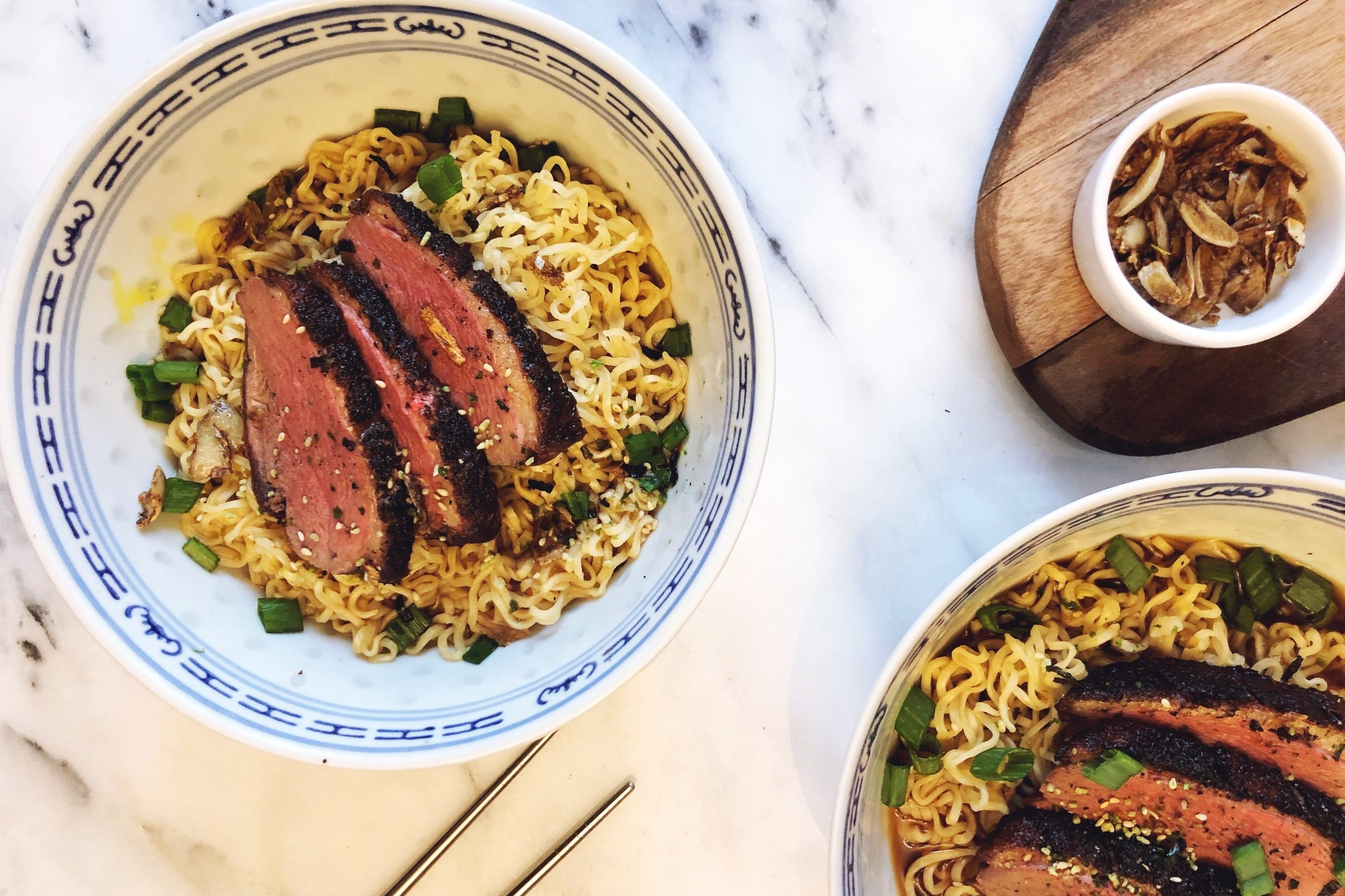 Crispy Moulard Duck Breast Ramen -