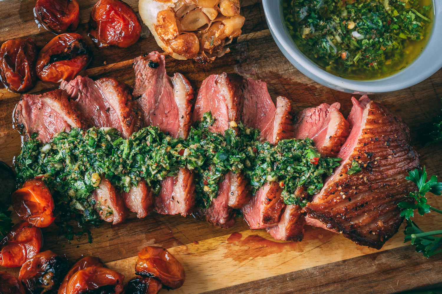 Chimichurri Duck Breast -