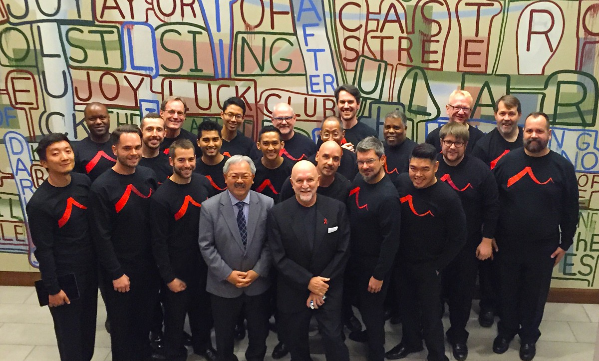 Members of SFGMC with San Francisco Mayor Edwin M. Lee, November 16, 2015.