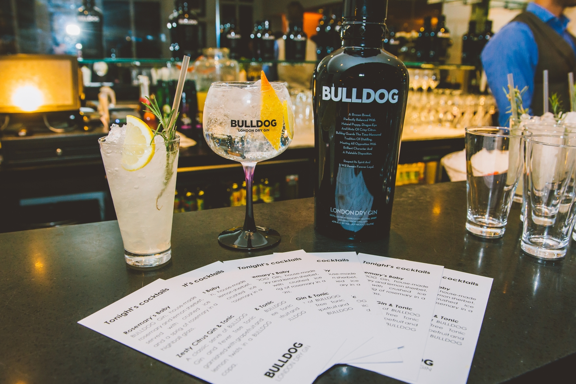 / BULLDOG Gin cocktails /