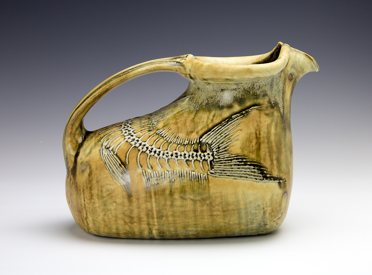 Fossil Fish Barrel Pitcher made by Bruce Gholson