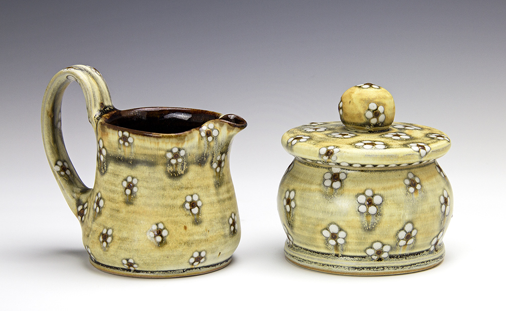 Creamer and Covered Jar by Samantha Henneke