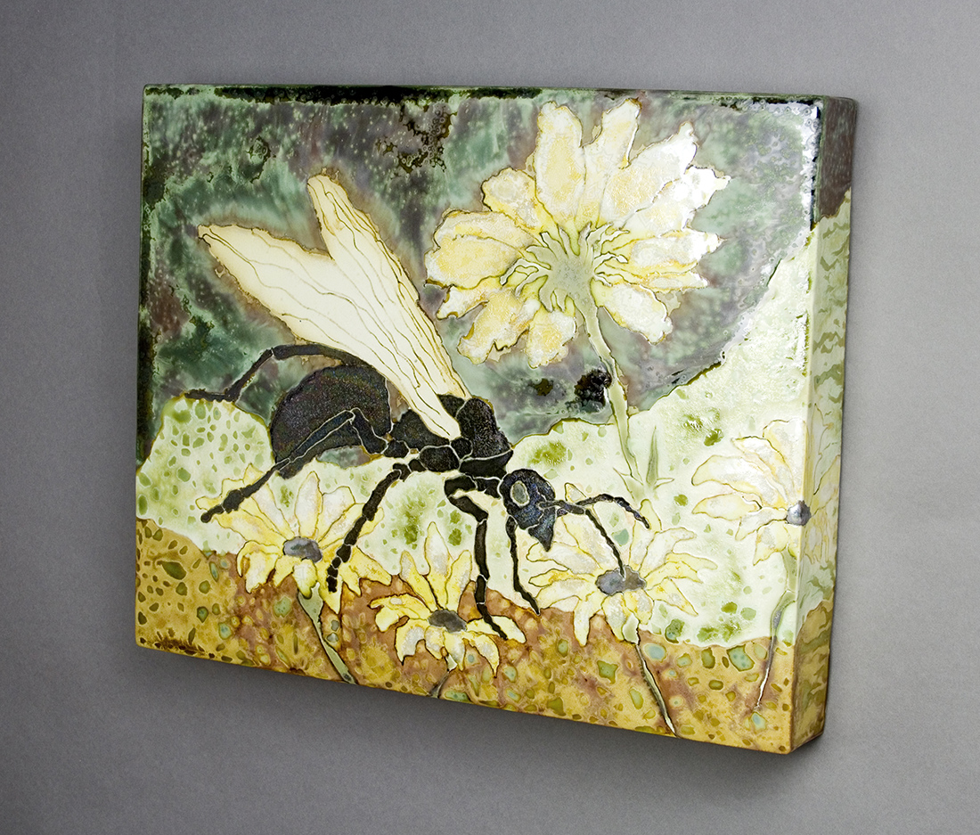 Winged Insect Glaze Painting made by Samantha Henneke