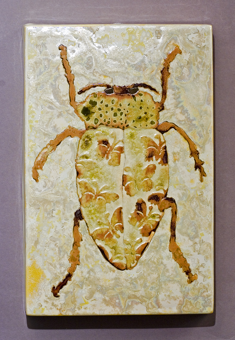 Butterfly Beetle glaze painting made by Samantha Henneke