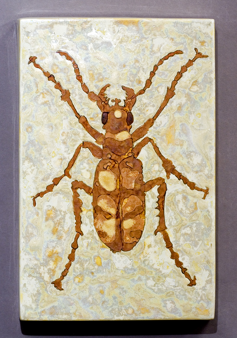Beetle glaze painting made by Samantha Henneke
