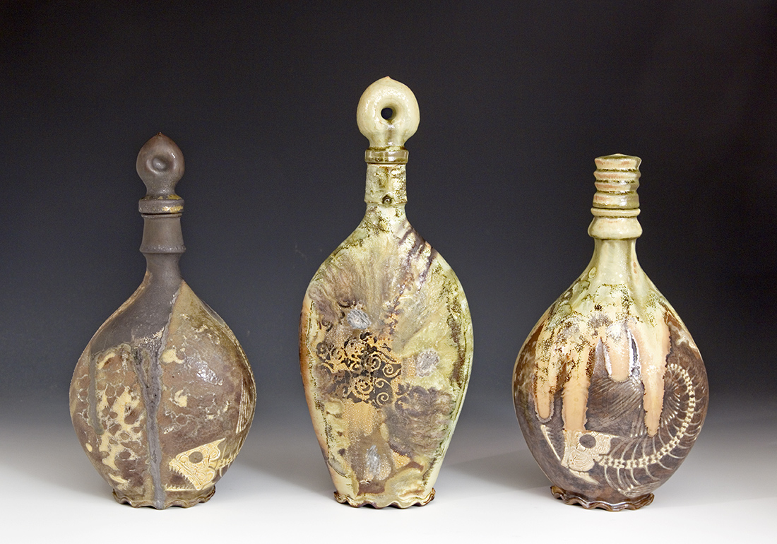 Spirit Decanters made by Bruce Gholson