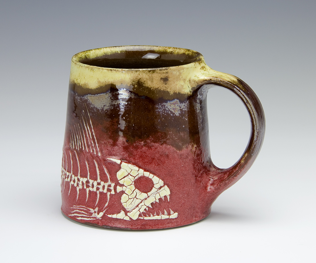 Fossil Fish Mug made by Bruce Gholson