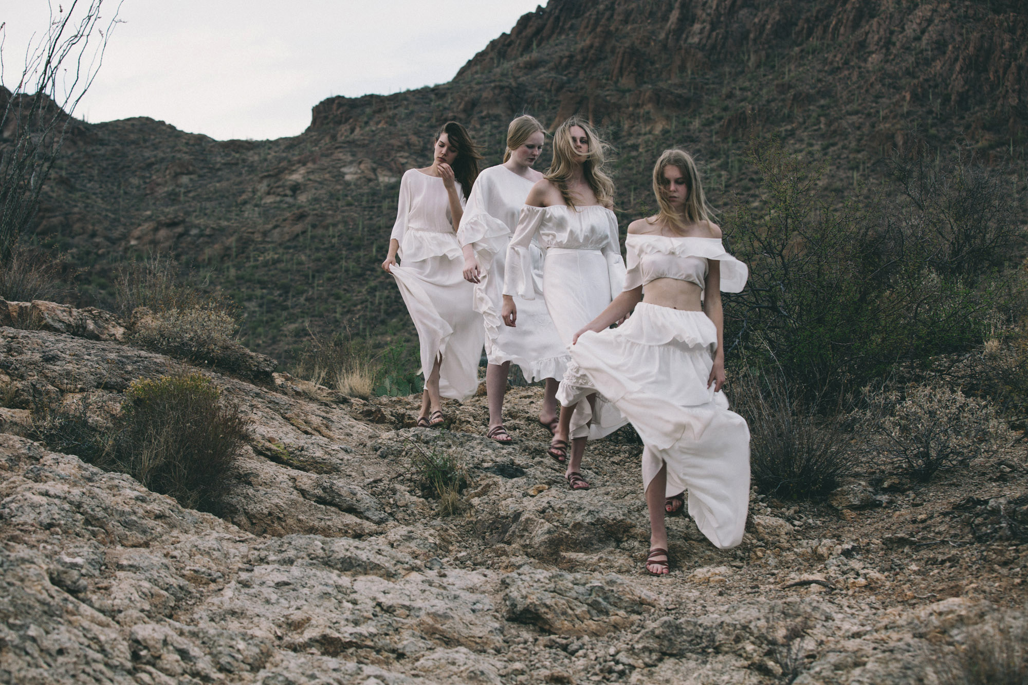 CopyrightBonJane Photography modern new york artist cult boho bohemian models nakid magazine i-d female white dress wedding sexy babes desert naked georges berges gallery moma