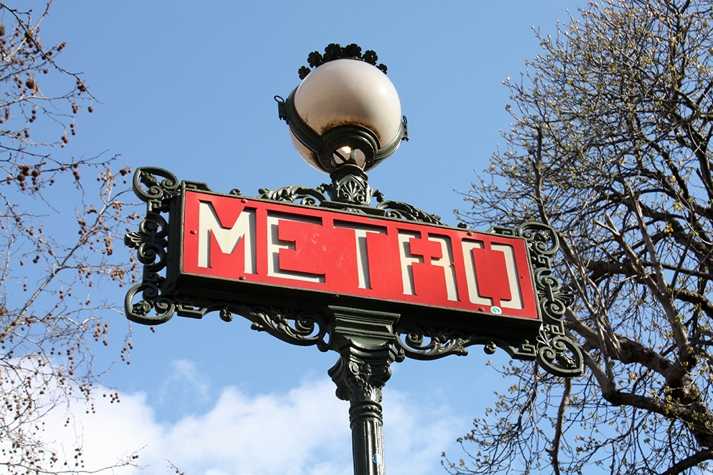 Paris Metro Sign @rebeccaplotnick