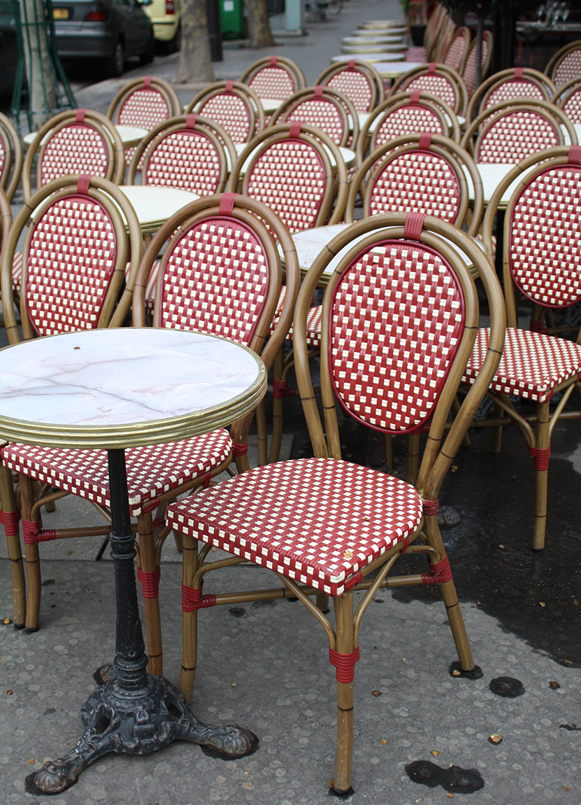 Paris Cafe Chairs @rebeccaplotnick