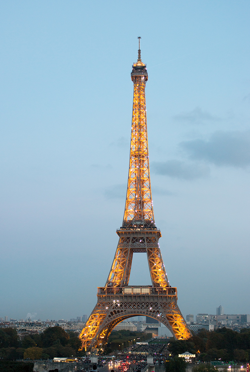Paris eiffel tower at night @rebeccaplotnick