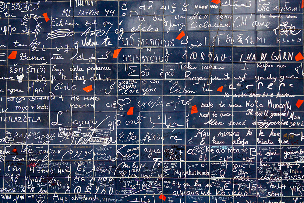 I love you wall in Montmartre