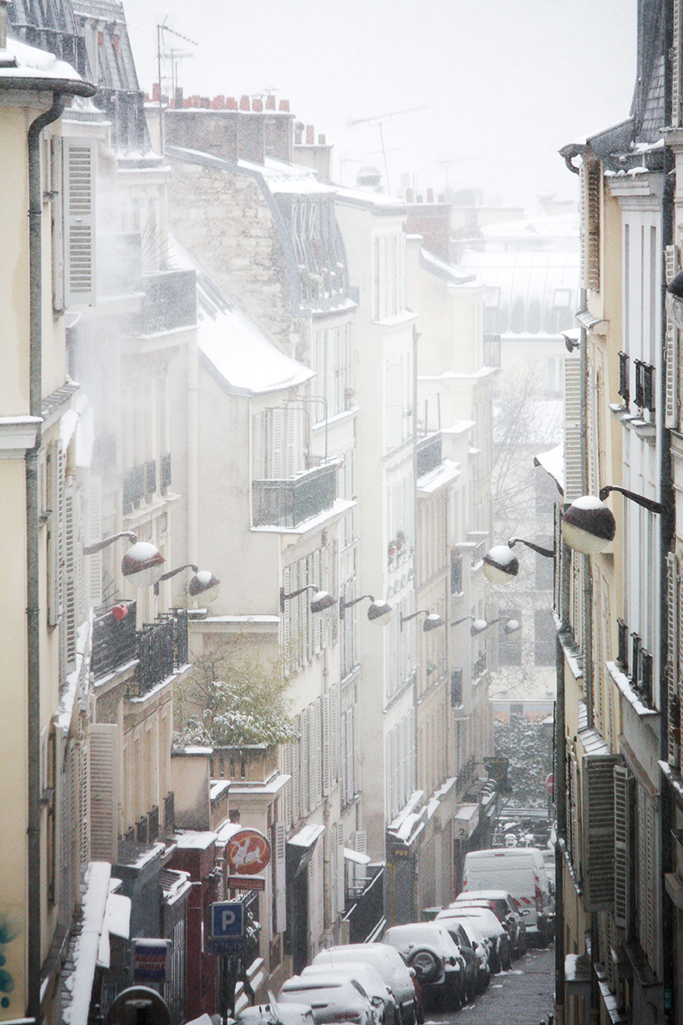 paris in the snow @rebeccaplotnick