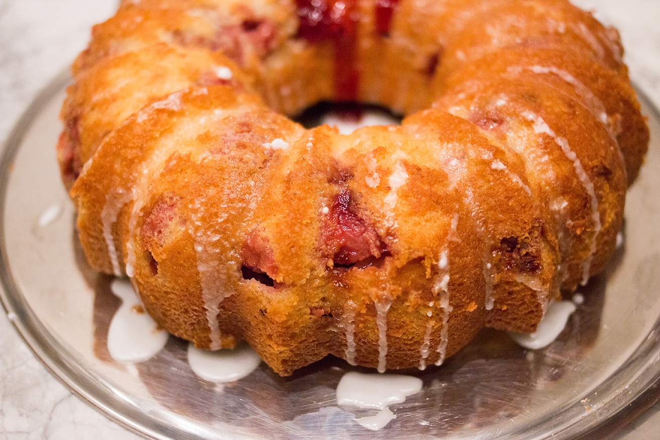 strawberry lemon bundt cake recipe via everyday parisian